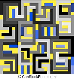 yellow blue gray background - Abstract yellow blue gray...