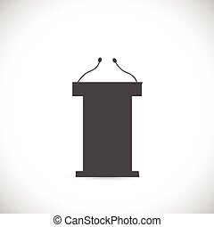 Podium Illustration - Illustration of a podium silhouette...