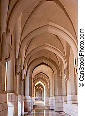 Arch corridor in an Arabic mosque