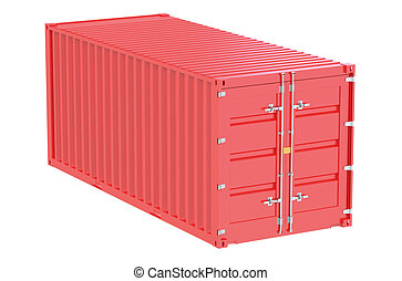 red cargo container
