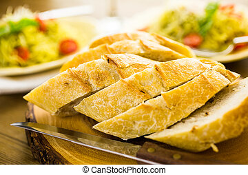 Garlic bread - Homemade garlic bread for dinner