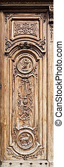 Grasse Cathedral Main Door - Detail of the beautiful carving...