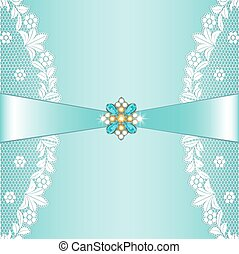 Lace borders - White lace borders with ribbon and jewelery...