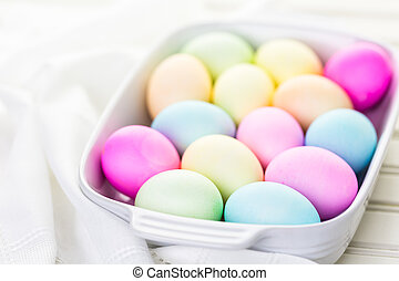 Easter eggs - Painted with pastel colors Easter eggs.