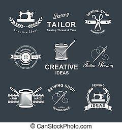 Tailor shop - Set of tailor Logo, emblems and design...