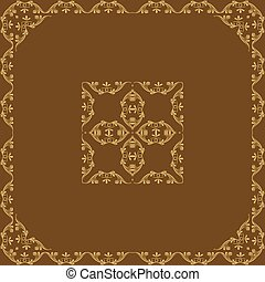 ornamental vector frame - vector frame with decorative...