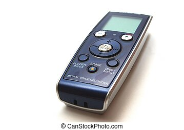 Voice recorder - photo of the voice recorder on white...