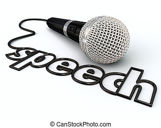 Speech Word Microphone Cord Public Speaking Presentation -...