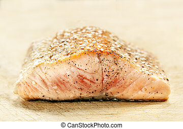 Salmon Fillet with Sesame Seeds