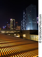 night scenes of skyscrapers - Beautiful night scenes of...