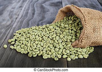 verde, café, frijoles