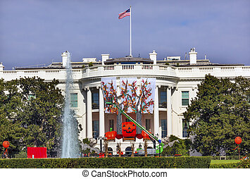 Halloween Fall Decorations White House Washington DC -...