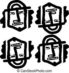 Tribal face abstract