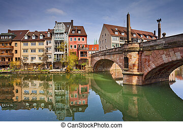 Nuremberg - Image of the Nuremberg old town during sunny...