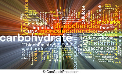 carbohydrate wordcloud concept illustration glowing -...