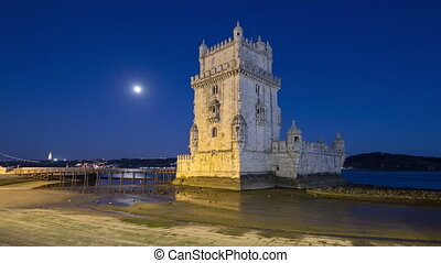 Lisbon, Portugal. Belem Tower (Torre de Belem) is a...