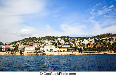 The billionaire\'s houses at Nice beach front, France