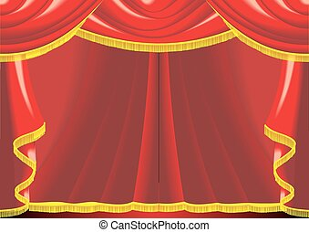 theatre background in the red and gold
