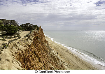 Western Algarve Cliffs Atlantic beach scenario Portugal