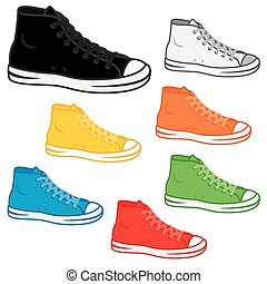 High top sneakers - Generic high top sneakers in a variety...
