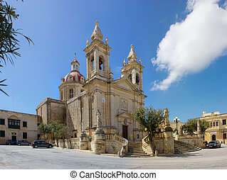 main church of Sannat in Gozo, Malta - Sannat parrocchia...