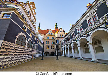 Old palace in Dresden, Germany - Old palace in Dresden -...