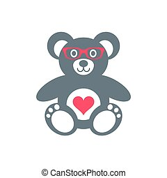 Teddy bear with glasses