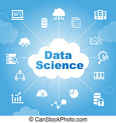 Data Science concept with icons