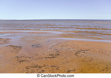 Ladoga lake - View of the Ladoga lake, Russia, at springtime