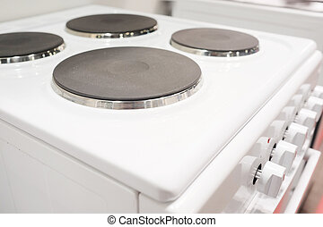 electric stove - The image of an electric stove