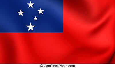 Flag of Samoa Close Up