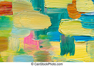 Abstract art background Hand-painted background SELF MADE