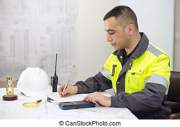 Civil Engineer At Construction Office - Civil engineer at...