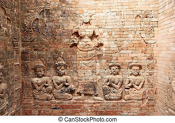 Prasat Kravan - The bas relief on the interior wall of the...