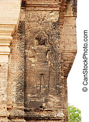 Prasat Kravan - The bas relief of the guardian on the...