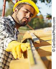 construction worker - latin american construction worker on...