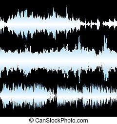 Colorful waveform - Set of colorful waveforms, vintage...