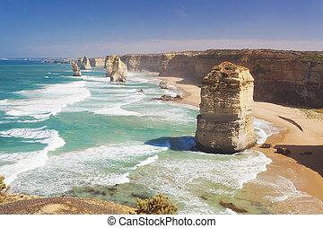 Twelve Apostles in Australia in the daytime