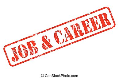 Job and career red stamp text on white