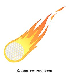 Golf Ball in Fire