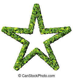 Star / sun made from green leaves. - Beautiful graphics made...