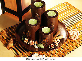 Candles decorative - Composition of four decorative...