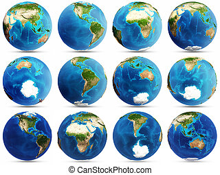 Planet Earth set. Elements of this image furnished by NASA