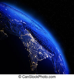 India from space Elements of this image furnished by NASA