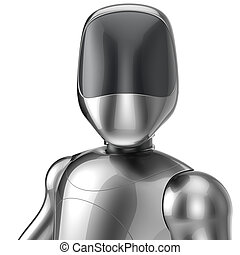 Bot cyborg robot android futuristic artificial character...