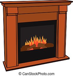 Electric Fireplace for Lumbersexual - Realistic Wooden...