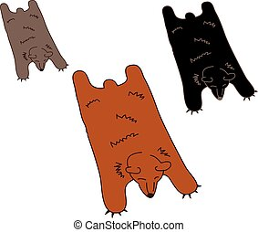 Bear Skin Rug For Man Cave - Faux or Fake Leathery Extra...
