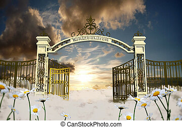 Pearly gates Stock Illustration Images. 54 Pearly gates ... Pearly Gates Of Heaven Clipart