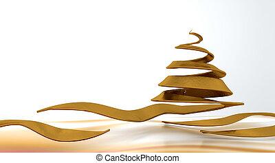 conceptual christmas tree
