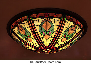 tiffany lamp - Multicolor glass tiffany style lamp
